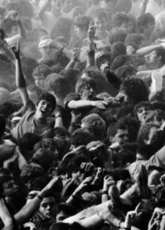 #66. Be in a crazy mosh pit<3