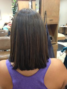 Back of long a line bob by Sarah Romero