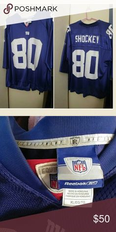 Selling this Official NFL NY Giants Jeremy Shockey jersey on Poshmark! My username is: michienyc. #shopmycloset #poshmark #fashion #shopping #style #forsale #Reebok #Other