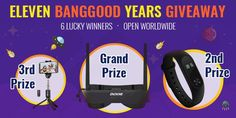 Find great deals on electronics and other tech items during Banggood anniversary celebration. You can win cool gadgets too by entering the giveaway.