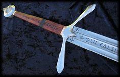 Live True - Vivere Verus Custom Templar Crusader Claymore Scottish Great Sword Ironclad by Brendan Olszowy Fable Blades