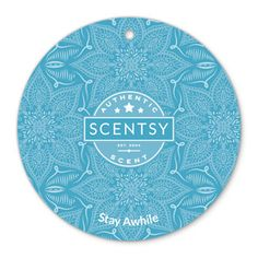 STAY AWHILE SCENTSY Scent Circle Sail a tranquil sea redolent with quiet Atlantic seaberry, water hyacinth, red cassis and fresh, exquisite teakwood.