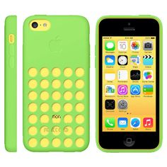 Official Apple Dot Silicone Rear Case Cover for iPhone 5C in Green - GadgetWear  - 1