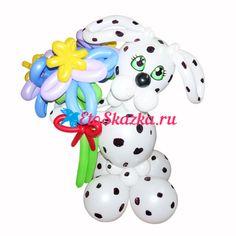 Купить Фигуру далматинца с букетом из воздушных шариков в интернет магазине…