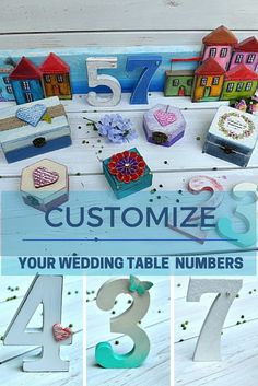 Wedding rustic table numbers. Customize yours at https://www.etsy.com/shop/VarmaLumo?ref=hdr_shop_menu§ion_id=18447805