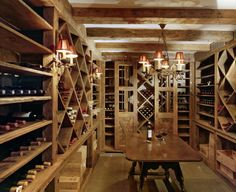 basement cellar for future finish.  ours is designed for wine in chilled area and spirits in the front tasting area.
