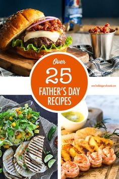 Over 25 recipes for Father's Day from burgers to tacos to pizza to ribs and some fun desserts. Lots of vegan options as well! Ribs On Grill, How To Grill Steak, Fathers Day Dinner Ideas, Beer Recipes, Dinner Recipes, Grilled Steak Salad, Canadian Food, Energy Snacks, Man Food