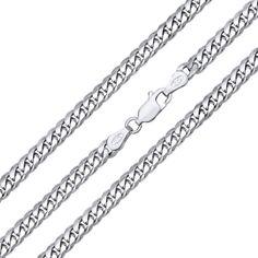 Silvego stříbrný řětěz CURB 4 mm - rhodiovaný TTTN40CURB