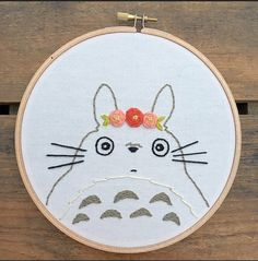 SHIPS AFTER CHRISTMAS Totoro embroidery by bugandbeanstitching