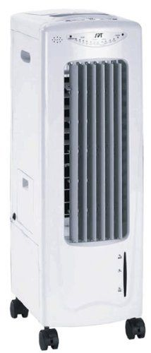 Sunpentown SF-610 Evaporative Air Cooler with Ionizer by Sunpentown. $102.45. 120 volts; 60 watts. Versatile lightweight air cooler can also be used as a fan or humidifier. 12 x 9.45 x 28.4 inches; 17 pounds; limited 1-year warranty.Product Dimensions: 14.5 x 31 x 12 inches ; 21 pounds.. Remote control included. Uses much less energy than an air conditioner. Relax in refreshing cool air in any room of your home or office. The SPT Evaporative Air Cooler rolls easil...