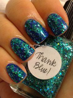 Lynnderella Thank Blue polish