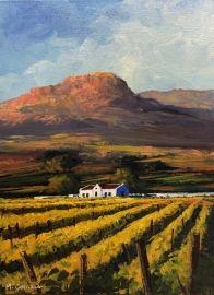 Landscape Paintings Oil Painting - Cape Dutch Homestead in the Vineyards by Mauro Chiarla Cape Dutch, Free State, Art Portfolio, Landscape Paintings, Homestead, Vineyard, Oil, Outdoor, Outdoors