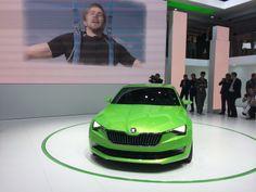 Skoda's koncept bil: VisionC I en frisk, grøn farve...