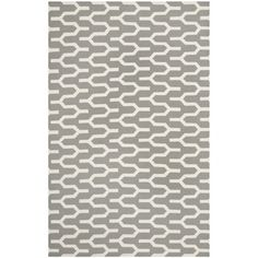 Safavieh Hand-woven Moroccan Dhurrie Silver Wool Rug (5' x 8')