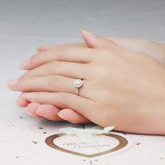 Inexpensive Halo Round Diamond Engagement Ring, simple