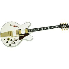 Gibson Alex Lifeson ES-355 Semi Hollow Electric Guitar  (Alpine-White)