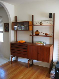 Danish Modern Teak Wall Unit by hmdavid, via Flickr