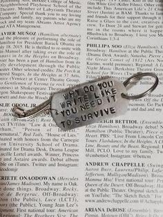 Hamilton Broadway Non Stop Lyrics Charm Keychain - HAM4WESTEROS