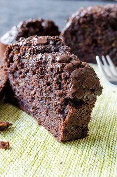 Chocolate and Yogurt Zucchini Bread | giverecipe.com | #bread #cake #chocolate #zucchini