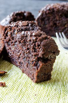This Chocolate and Yogurt Zucchini Bread is so moist and rich that you will feel like you are eating brownies, yet a healthier version.Little olive oil, plain yogurt and lots of zucchini are the secret behind the moistness. | giverecipe.com