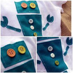robot applique onsie - idea for Eli's preschool book bag.