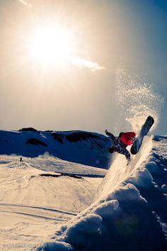 Nice surfy cutback Cole Barash Photography #snowboard #style