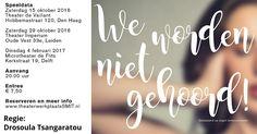 15 Okt – We worden niet gehoord - Première in Theater Vaillant - http://www.wijkmariahoeve.nl/we-worden-niet-gehoord/