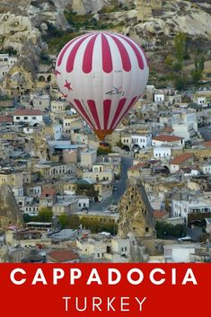 #Cappadocia in the Anatolian region of #Turkey is famous for its hot air #balloon trips. #travel #places
