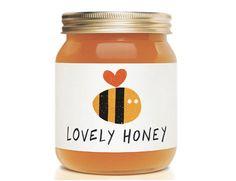 """Comment ne pas aimer ce packaging pour le miel """"Lovely Honey""""? En tout cas c'est simple, le message est bien visible, une très belle identité visuelle réalisée par Jamie Nash. Via the dietline"""