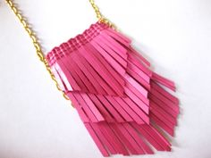 DIY Fringe Earrings & Necklace « M Blog