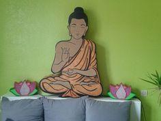 Lampe Bouddha en carton