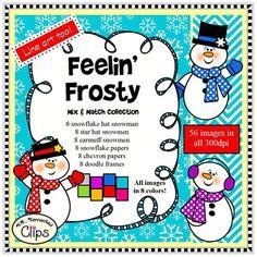 Feelin' Frosty Mix and Match Winter Clip Art... by KB Konnected | Teachers Pay Teachers