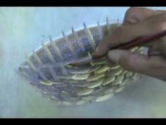 Aprenda a pintar uma cesta em menos de 5 minutos - YouTube Arte Country, Painted Wicker, Acrylic Painting Lessons, Spray Paint Art, Watercolour Tutorials, Diy Projects To Try, Beautiful Paintings, Art Tutorials, Art Lessons