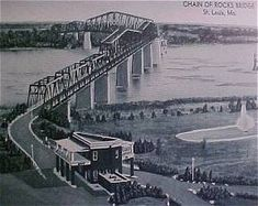 Old Chain of Rocks 1930s, spanning the Mississippi River between Illinois and Missouri