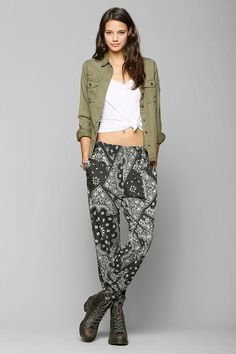 Loving these pants from Urban Outfitters!!! Staring At Stars Boho-Print Sweatpant