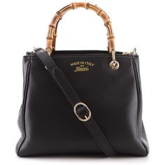 Gucci Black Bag Bamboo Shopper