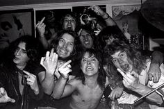 In the early thrash metal titans with names like Ulrich, Mustaine, and Lombardo were just pimply-faced fantasy nerds looking for an escape. Brian Lew was one of them, and happened to capture the most incredible photos of the scene's birth ever taken. Thrash Metal, Metallica Concert, Metallica Band, Dave Mustaine, Band Pictures, Band Photos, Bay Area, The One Lyrics, Cliff Burton