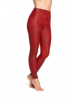 7918ccad1c0578 Yummie Tummie Jade Leggings in Chilli Pepper Faux Leather (R1,020) Pantone,