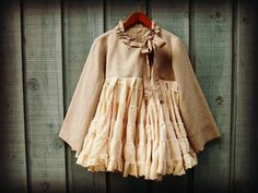 Eco Shabby Chic Tweed Jacket// Large// One of a Kind by emmevielle, $87.00