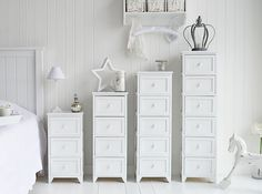 Best White Narrow Bedside Table With Four Drawers Perfect For 400 x 300