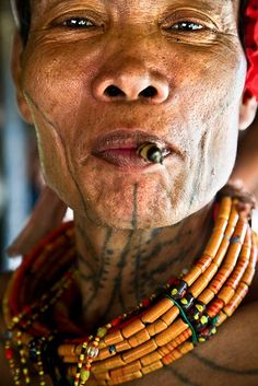 The Mentawai people of Siberut are a tattoo'd lot. For them it's all about nature and the soul and good spirits.