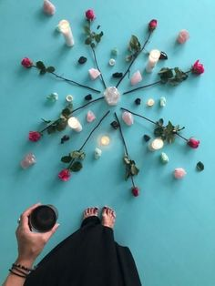 Crystal Grid with Roses, Learn how to host a New Moon Circle! History of these powerful circles & our best tips for making your Moon Circle a success. New Moon Meaning, Moon Circle, Holding Space, New Moon Rituals, Pagan, Wiccan Spells, Magic Spells, Candle Magic, Moon Magic