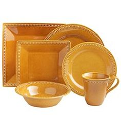 Spice Route Dinnerware - Ginger... want the small square plates