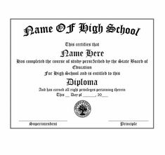 Printable High School Diploma Lovely 30 Real & Fake Diploma Templates High School College – Tate Publishing News Free High School Diploma, High Diploma, College Diploma, Graduation Certificate Template, Graduation Templates, Degree Certificate, School Certificate, Free Printable Certificates, Certificate Design Template