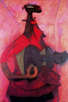 Tamayo, Rufino (1899-1991) - 1950 Man with Guitar (National Museum of Modern Art, Center Georges Pompidou, Paris, France) by RasMarley, via Flickr