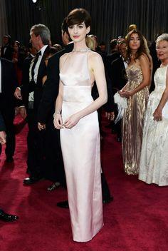 Light pink formal dress.