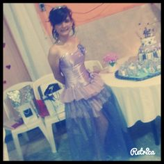 vestido lila muy lindo de 15 años