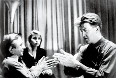 David Lynch on the set of Twin Peaks