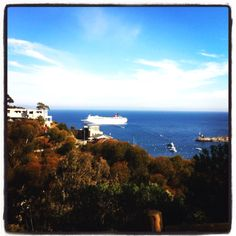 At Catalina with Carnival Inspiration cruise ship