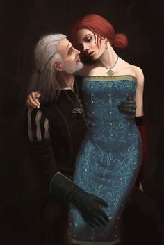 Triss and Geralt by yinetyang on @DeviantArt